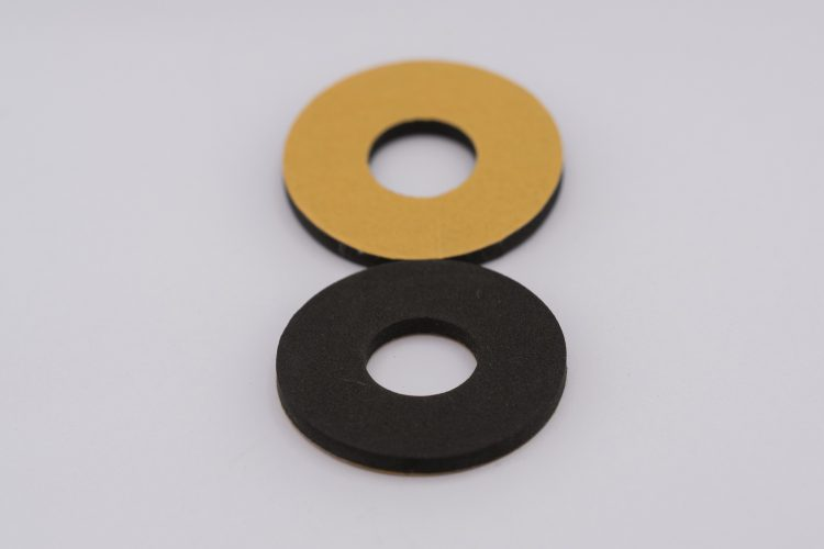 Self adhesive flat washer