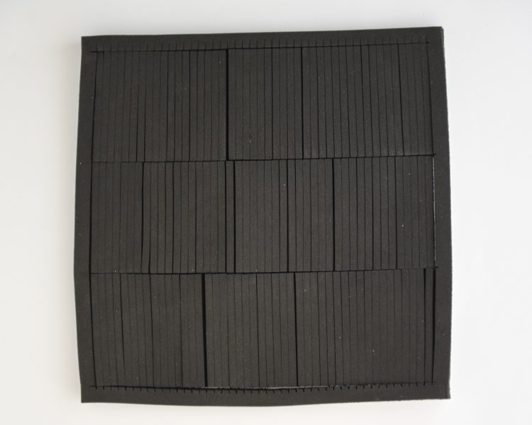 CNC-cut selfadhesive cellular rubber strips